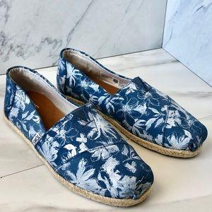 Toms Floral Suede Slip-on Flats